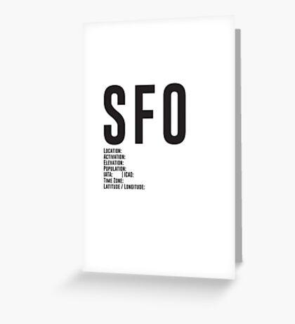 San Francisco Airport SFO Greeting Card