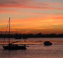 Langstone Harbour sunset by Sharon Bishop
