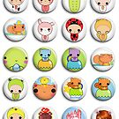 candyrainbow characters pins/buttons by Ania Tomicka
