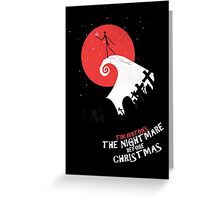 Minimalist Poster : Nightmare Before Christmas Greeting Card