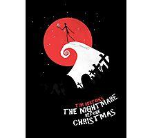 Minimalist Poster : Nightmare Before Christmas Photographic Print