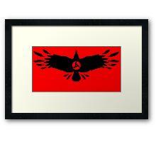 Magenkyou Crow Framed Print