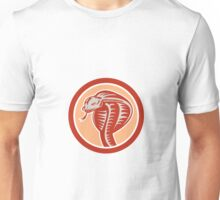Cobra Viper Snake Head Circle Retro Unisex T-Shirt
