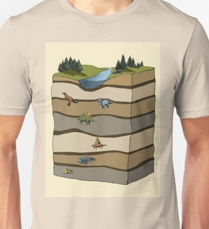 Chart Showing Dinosaur Strata Unisex T-Shirt