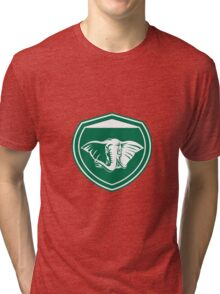 Elephant Head Tusk Front Shield Tri-blend T-Shirt
