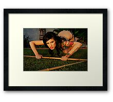 Nicolette Dawn the Savage by Danielle Emerick  Framed Print