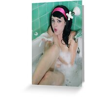 Heidi Van Horne's Bath by Danielle Emerick Greeting Card
