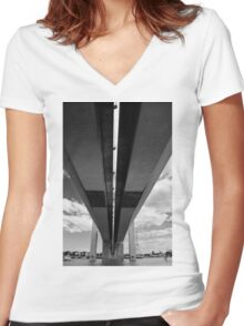 Bridging Bolte - Melbourne, Australia Women's Fitted V-Neck T-Shirt