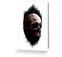 Abstract Skull Greeting Card