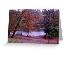 Autumn by the lake Greeting Card