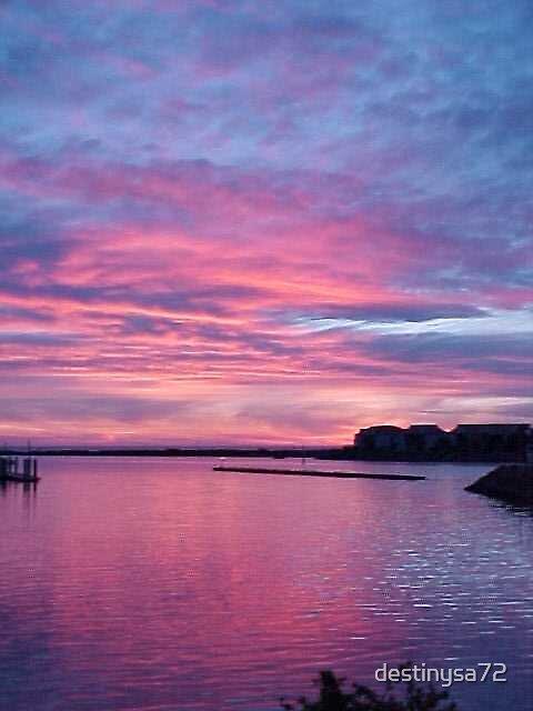 North Haven Marina at Sunset by destinysa72
