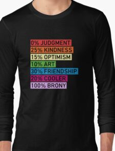 100% BRONY - MLP Long Sleeve T-Shirt