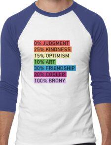 100% BRONY - MLP Men's Baseball ¾ T-Shirt