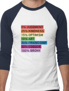 100% BRONY - MLP Men's Baseball ¾ T-Shirt