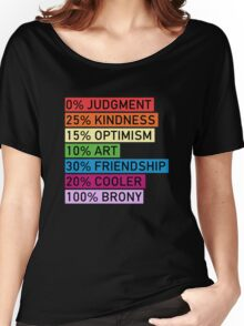 100% BRONY - MLP Women's Relaxed Fit T-Shirt