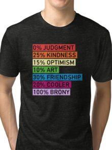 100% BRONY - MLP Tri-blend T-Shirt