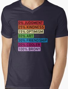 100% BRONY - MLP Mens V-Neck T-Shirt