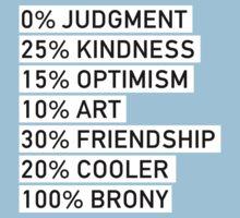 100% BRONY (Black & White) Kids Clothes