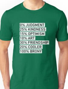 100% BRONY (Black & White) Unisex T-Shirt