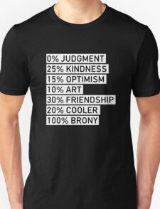 100% BRONY (Black & White) T-Shirt