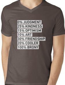 100% BRONY (Black & White) Mens V-Neck T-Shirt