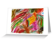 Pastel Colorful Abstract Greeting Card