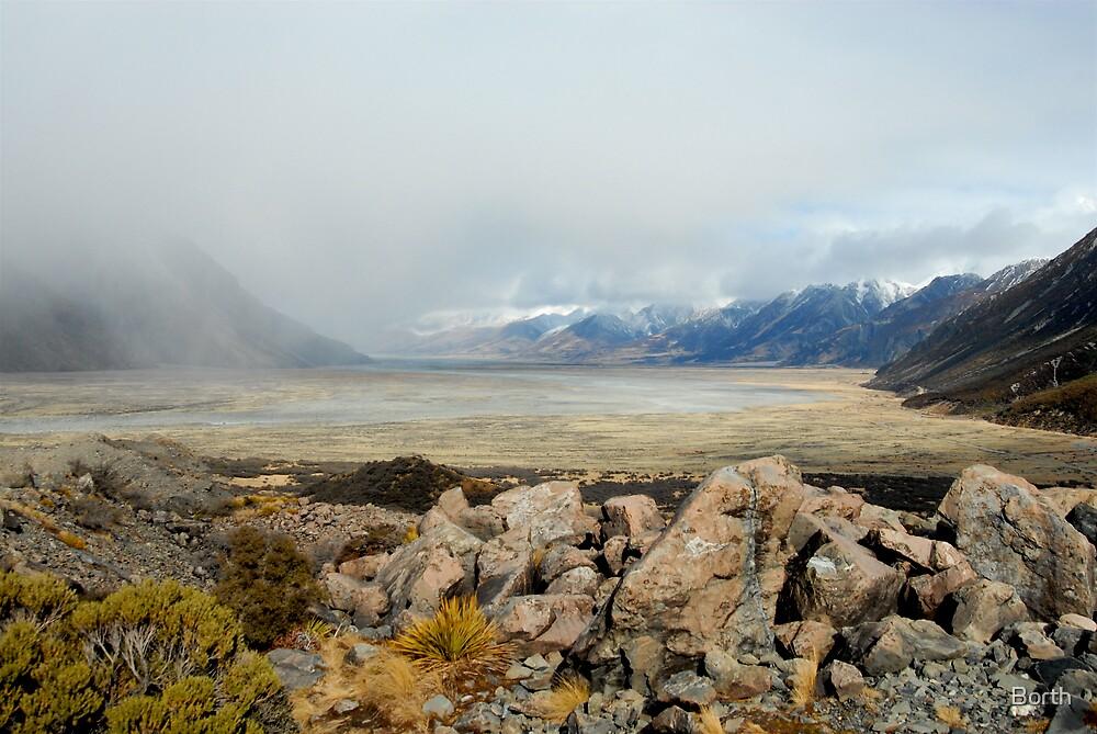 Landscape - Tasman Glacier by Borth