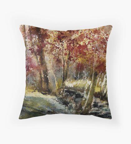 watercolor ywoigne Throw Pillow