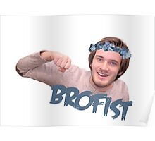 Pewdiepie | brofist flower-crown  Poster