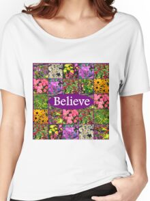 BELIEVE IN MIRACLES AND DREAMS Women's Relaxed Fit T-Shirt