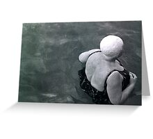 it's not over till the fat lady swims  Greeting Card