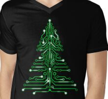 Christmas Circuitree Mens V-Neck T-Shirt