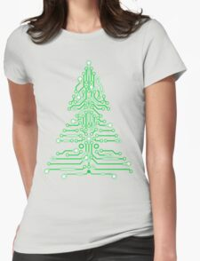 Christmas Circuitree Womens Fitted T-Shirt