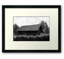 Barn 01 BW Framed Print