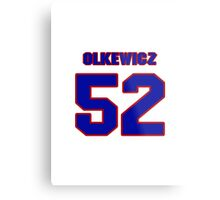 National football player Neal Olkewicz jersey 52 Metal Print
