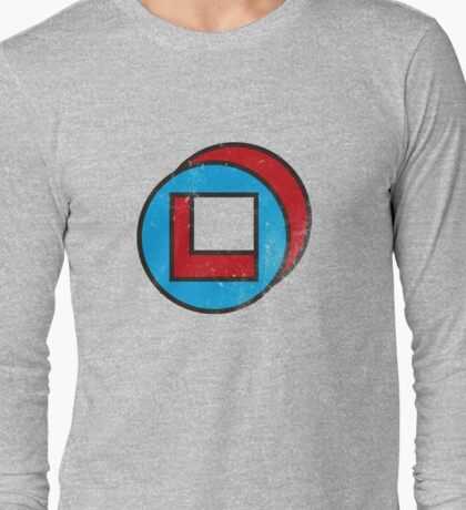 Square in Circle - Legion chapter 2 - Distressed Effect Long Sleeve T-Shirt