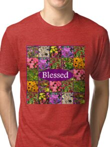 BLESSED BY GOD Tri-blend T-Shirt