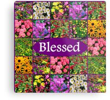 BLESSED BY GOD Metal Print