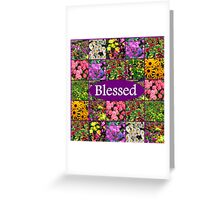 BLESSED BY GOD Greeting Card