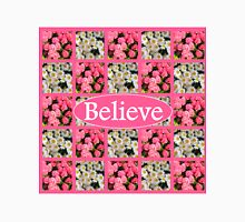 WHITE AND PINK FLORAL BELIEVE DESIGN Unisex T-Shirt