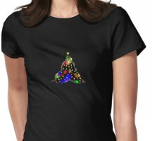 Funky Little Christmas Tree Womens Fitted T-Shirt