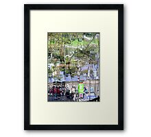 Coffee Shop Reflection  View Framed Print