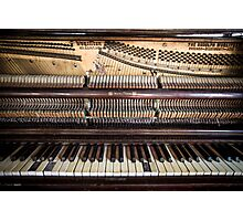 Old Honky Tonk Vintage Piano Photographic Print