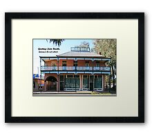 Greeting Card, Old Towers Drug Co Building. Framed Print