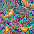 Birds and Berries by marlene veronique holdsworth