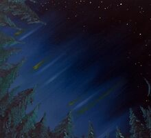 Midnight Forest - Oil Painting by morningcoffee