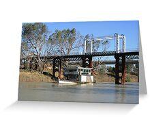 PV Jandra at Old North Bourke Bridge. Greeting Card