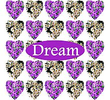 DREAM IN WHITE AND PURPLE FLOWERS Photographic Print