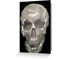 Black and white pencil skull 2 Greeting Card
