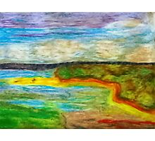 Tropical Coastline Pastel Photographic Print